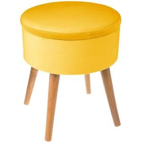 Табурет с мягкой обивкой «TESS» цвет жёлтый