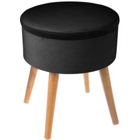 Табурет с мягкой обивкой «TESS» цвет черный