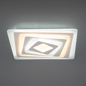 Люстра потолочная светодиодная Ritter квадратная с пультом управления, 40 м², регулируемый белый свет, цвет белый