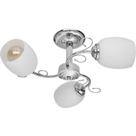 Люстра потолочная Modern 118/3, 3 лампы, 9 м², цвет хром/белый
