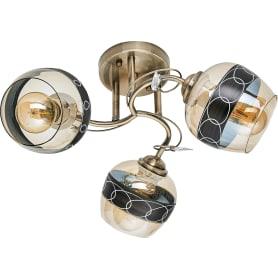 Люстра потолочная Modern 116/3, 3 лампы, 9 м², цвет золотой/бежевый
