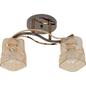 Люстра потолочная Modern 117/2, 2 лампы, 6 м², цвет золотой/бежевый