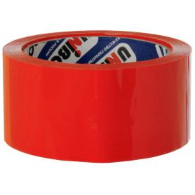 Лента клейкая упаковочная Unibob 48 мм x 66 м, цвет красный