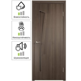 Дверь межкомнатная Белеза глухая ламинация цвет дуб тёрнер коричневый 80x200 см