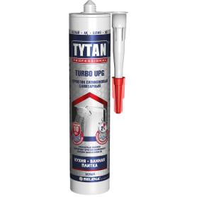 Герметик санитарный Tytan Turbo Upg силиконовый 280 мл цвет белый