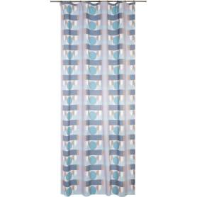 Штора на ленте блэкаут «Геометрия» 200x270 см цвет серый