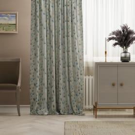 Штора на ленте «Дымка» 150х260 см цвет синий