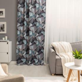 Штора на ленте «Тундра» 150x260 см цвет серый
