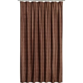 Штора на ленте «Терра» 200x280 см цвет коричневый