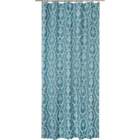 Штора на ленте «Вензель» 160x280 см цвет синий