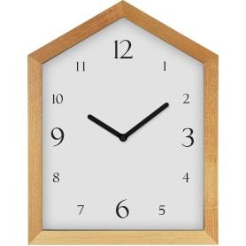 Часы настольные «Домик» 25х30 см цвет белый