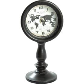 Часы настольные «Хрономет» металл чёрные 12х10х23 см