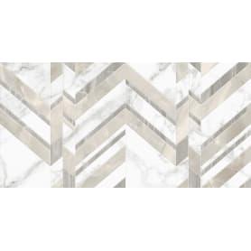 Плитка настенная Marmo Bianco Chevron 30х60 см 1.44 м² цвет белый