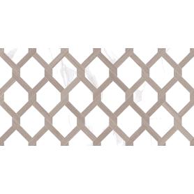 Плитка настенная Statuario с узором 20х40 см 1.2 м² цвет серый