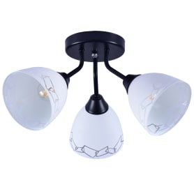 Люстра потолочная Вьюнок КС30091/3C, 3 лампы, 9 м², цвет чёрный