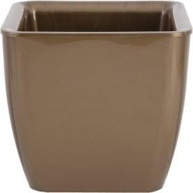 Горшок цветочный Square Couleurs Ø22,5 см, 8 л, пластик, цвет коричневый