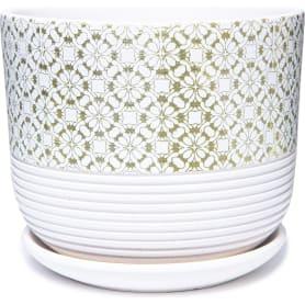 Горшок цветочный Диана ø15 h13.4 см v1.6 л керамика белый
