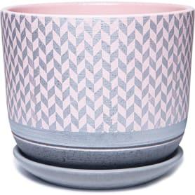 Горшок цветочный Сильвер ø15 h13.4 см v1.6 л керамика розовый/серый