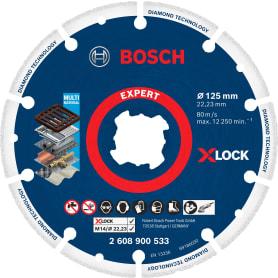 Диск алмазный по металлу сегментированный Bosch X-lock Metal, 125x22.23 мм