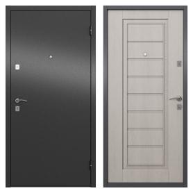 Дверь входная металлическая Альта, 860 мм, правая, цвет графит/белое дерево