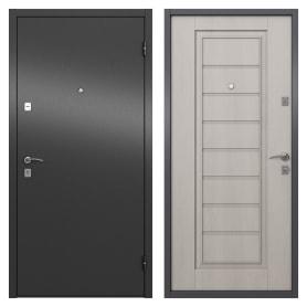 Дверь входная металлическая Альта, 950 мм, правая, цвет графит/белое дерево