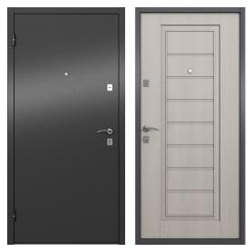 Дверь входная металлическая Альта, 950 мм, левая, цвет графит/белое дерево