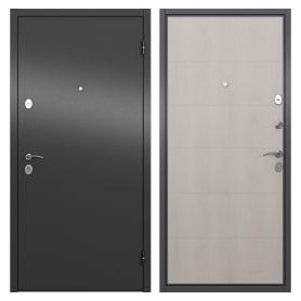 Дверь входная металлическая Берн, 860 мм, правая, цвет графит/белое дерево