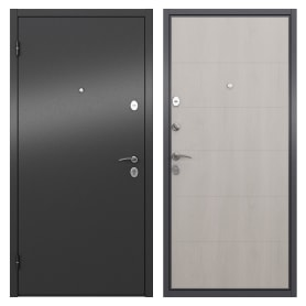 Дверь входная металлическая Берн, 860 мм, левая, цвет графит/белое дерево