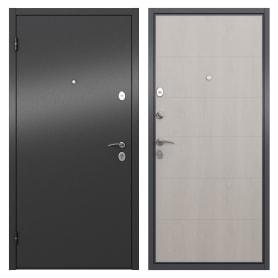 Дверь входная металлическая Берн, 950 мм, левая, цвет графит/белое дерево