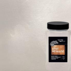 Декоративная краска Maitre Deco «Effet Metallise Blanc» эффект металла 0.3 кг