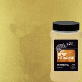 Декоративная краска Maitre Deco «Effet Metallise Or» эффект металла 0.3 кг