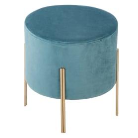 Табурет с мягкой обивкой, круглый, 34 см, цвет синий