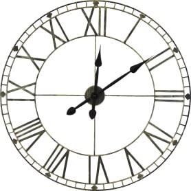 Часы настенные Vintage 77 см цвет сталь