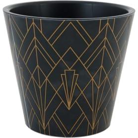 Горшок цветочный Ingreen London ø16 h14.5 см v1.6 л пластик чёрное золото