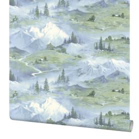 Обои флизелиновые Мир Горы синие 1.06 м 45-304-01