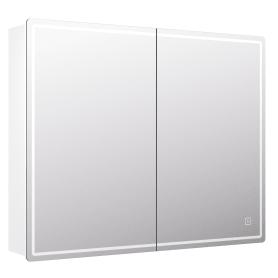 Шкаф зеркальный подвесной Look с подсветкой 80х80 см цвет белый