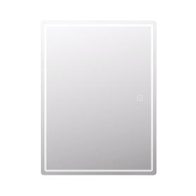 Шкаф зеркальный подвесной Look с подсветкой 60х80 см цвет белый