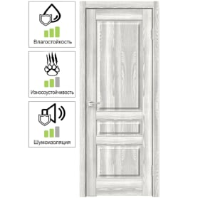 Дверь межкомнатная Летиция глухая ПВХ цвет клен 60х200 см (с замком и петлями)