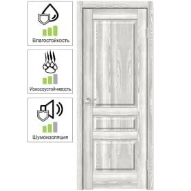Дверь межкомнатная Летиция глухая ПВХ цвет клен 70х200 см (с замком и петлями)