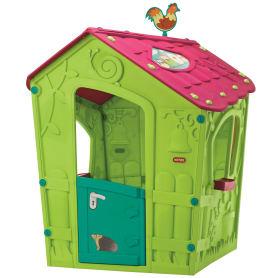 Детский домик Keter Magic Playhouse 110х110х146 см пластик зеленый/розовый