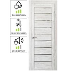Дверь межкомнатная Тиволи остеклённая ПВХ цвет рустик серый 90х200 см (с замком и петлями)