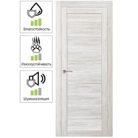 Дверь межкомнатная Тиволи глухая ПВХ цвет рустик серый 90х200 см (с замком и петлями)