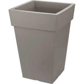 Кашпо Idea Тубус 16.5x36x24 см v7.5 л пластик французский серый