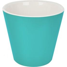 Горшок цветочный Ingreen London ø33 h30.5 см v16 л пластик голубой жасмин
