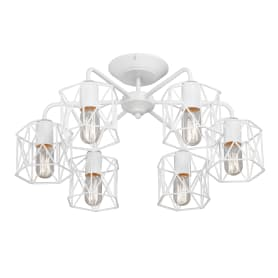 Люстра потолочная «Актавия», 6 ламп, 18 м², цвет белый