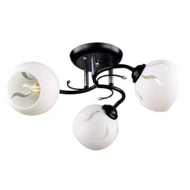 Люстра потолочная «Рассвет», 3 лампы, 9 м², цвет белый