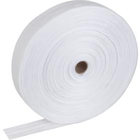 Лента шторная «Классика» органза 40 мм цвет белый