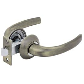 Дверные ручки Фабрика Замков 07L 100, без запирания, цвет античная бронза