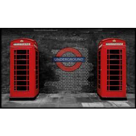 Картина в раме «Телефонные будки» 60х100 см