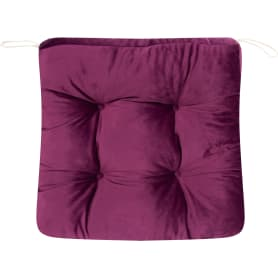 Подушка для стула Jimena 40x40 см цвет фиолетовый
